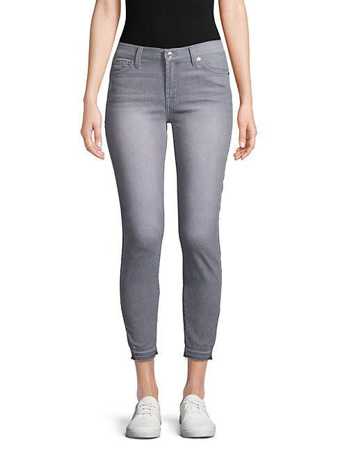 7 FOR ALL MANKIND | Gwenevere Ankle Skinny Jeans | Goxip