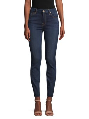 7 For All Mankind High-Rise Ankle Jeans