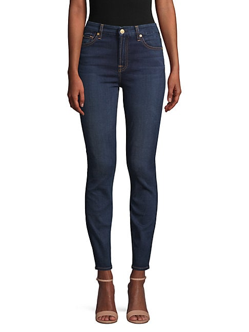 7 FOR ALL MANKIND | High-Rise Ankle Jeans | Goxip