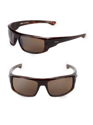 REVO 60Mm Wrap Sunglasses in Tortoise