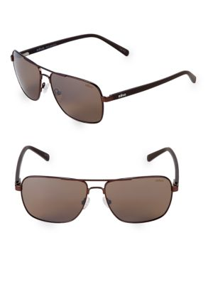REVO 59Mm Aviator Sunglasses in Matte Brown