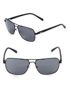 REVO 59Mm Aviator Sunglasses in Black
