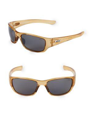 REVO 59Mm Wrap Sunglasses in Shiny