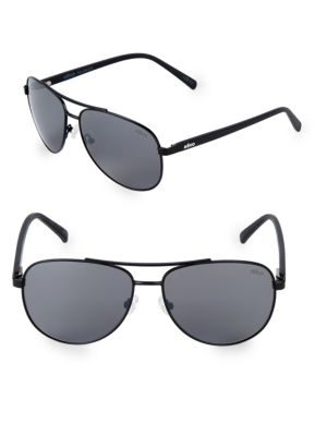 REVO 61Mm Aviator Sunglasses in Black