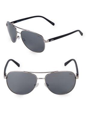 REVO 61Mm Aviator Sunglasses in Gunmetal