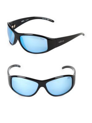 REVO 64Mm Wrap Sunglasses in Black
