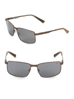 REVO Navigator 59Mm Square Sunglasses in Brown