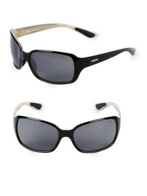 REVO 62Mm Wrap Sunglasses in Black