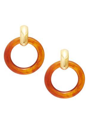 Kenneth Jay Lane Hoop Clip Earrings