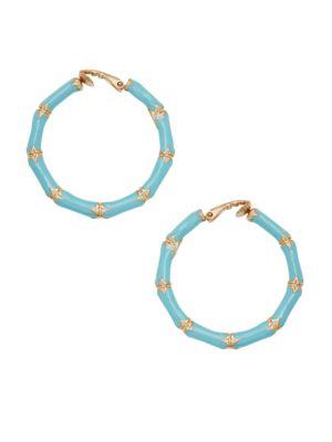 Kenneth Jay Lane Bamboo Hoop Earrings