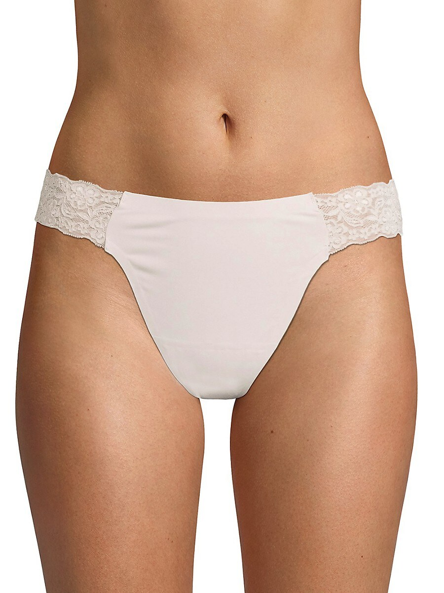 Women's Stretch Lace Trimmed Thongs