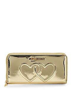 f7c12f36d4 Love Moschino. Metallic Zip-Around Long Wallet