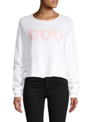 Wildfox Cropped Graphic Sweatshirt
