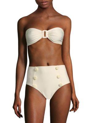 SINESIA KAROL Anita Bandeau Bikini Top in Perola