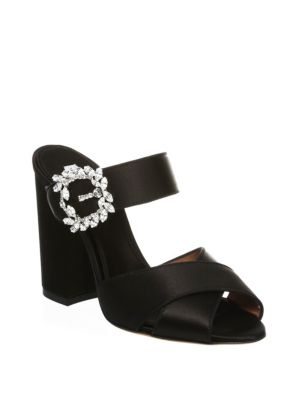 Tabitha Simmons Embellished Velvet Sandals