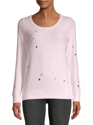 Chaser Glitter Stars Long Sleeve Top