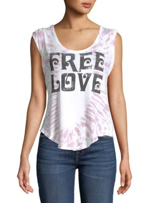 Chaser Free Love Cotton Tank Top