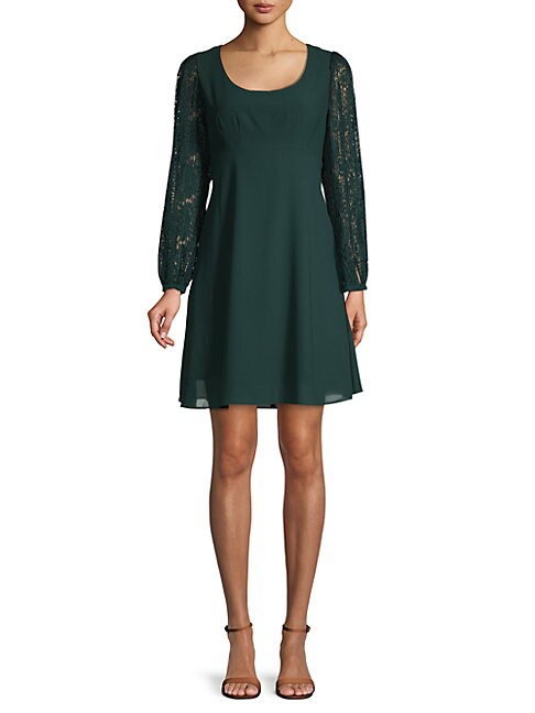 Long-Sleeve A-Line Dress