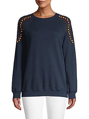 afa19c2bb86 Hemant   Nandita - Embellished Shoulders Cotton Sweatshirt