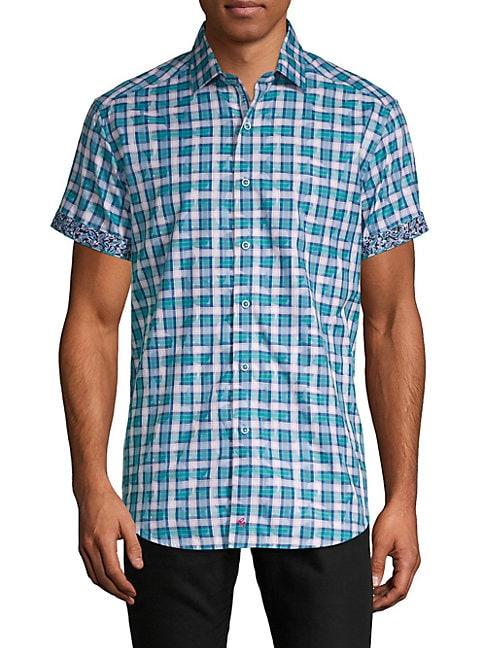 Printed Regular-Fit Button-Down Shirt