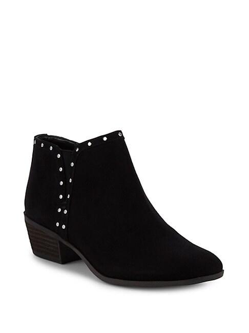 CIRCUS BY SAM EDELMAN Phyllis Studded Block Heel Booties in Black