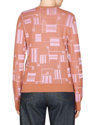 DRIES VAN NOTEN Cottons Geometric Print Cardigan