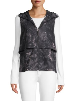 Nanette Lepore Hooded Zip-Front Vest