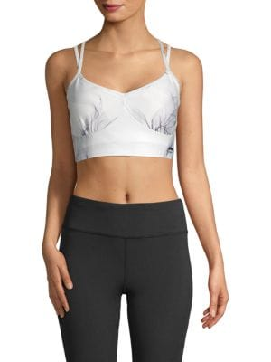 Nanette Lepore Cross Back Floral Longline Sports Bra