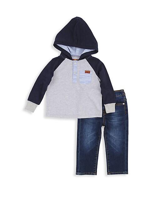 Little Boys 2Piece Sweatshirt and Jeans Set