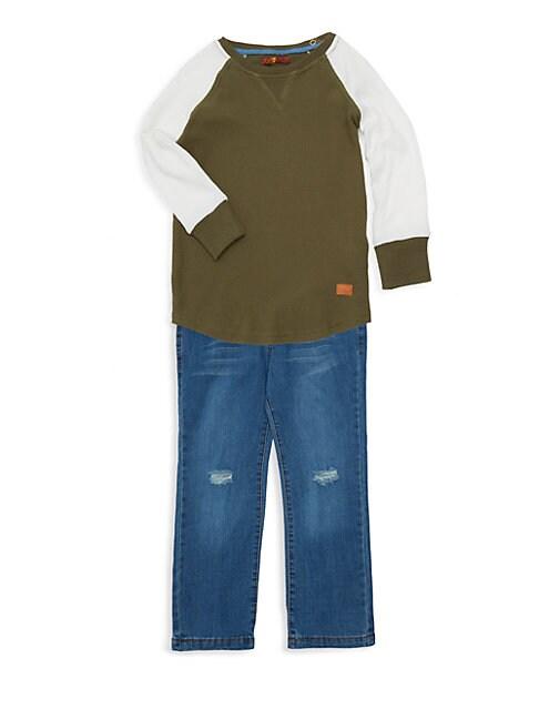 Little Boys 2Piece Sweater  Jeans Set