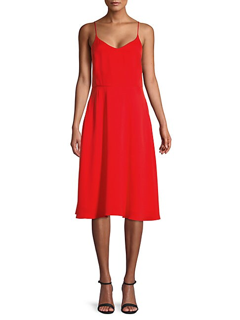 Scoopback Fit-And-Flare Dress