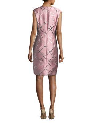 ESCADA Silks Metallic Jacquard Dress