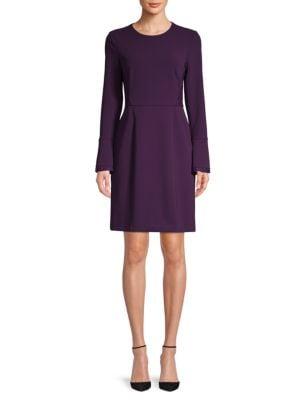 Donna Karan Bell-Sleeve Sheath Dress
