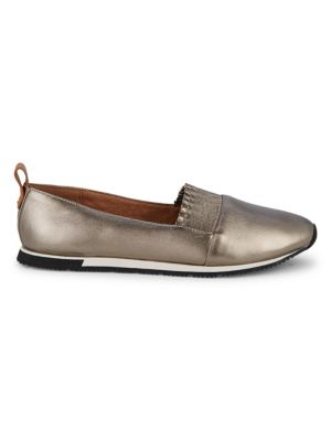 Gentle Souls Metallic Leather Loafers