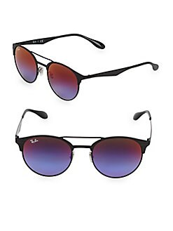 a8dd8319163 QUICK VIEW. Ray-Ban. 51MM Round Browline Sunglasses