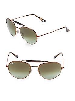 c3357393b59 QUICK VIEW. Ray-Ban. 55MM Browline Aviator Sunglasses