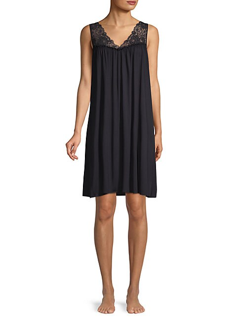 Sleeveless Lace Nightgown