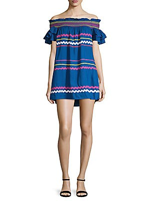 d1a1f58d3cbe Red Carter - Off-the-Shoulder Cotton Shift Dress - saksoff5th.com