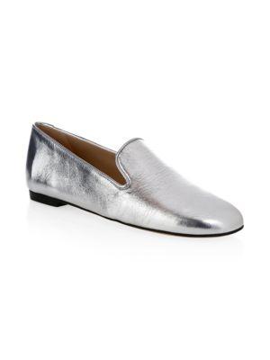 Myguy Metallic Flat Loafer in Argento