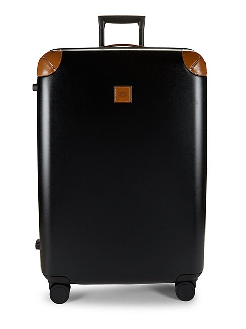 BRIC'S | 30-Inch Leather-Trimmed Spinner Suitcase | Goxip