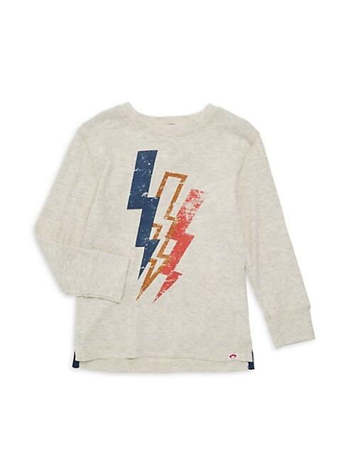 Little Boys  Boys Lightning Bolt Long Sleeve TShirt