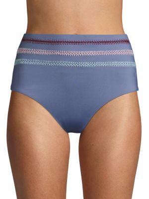 Dolce Vita High-Waist Textured Bikini Bottom