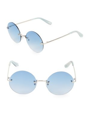 Elizabeth And James Silvertone 57MM Round Sunglasses