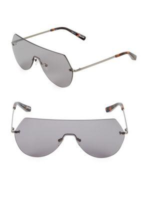 Elizabeth And James Frameless 60MM Shield Sunglasses
