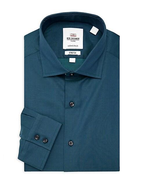 Stretch Slim-Fit Sport Shirt