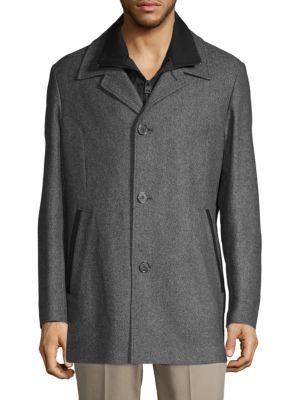 HUGO HUGO BOSS Barelto Vest Lined Jacket in Dark Grey