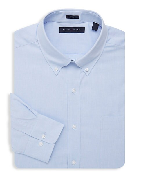 Cotton One Pocket Dress Shirt