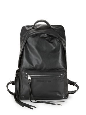 Mcq Alexander Mcqueen Classic Leather Backpack in Black
