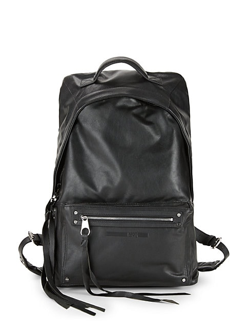 Classic Leather Backpack, Black