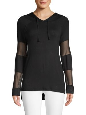 Marc New York Mesh-Accented Hoodie